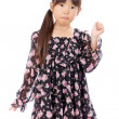 Cute little asian girl - Stock Photo
