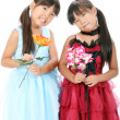 Two little asian girls — 图库照片