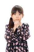 Little girl wishing — Stock Photo