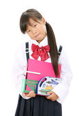 Little asian school girl — Stock Photo