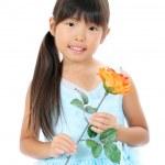 Portrait of little asian girl — Stock Photo