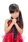 Little asian girl praying — Stock Photo