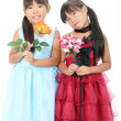 Two little asian girls — Stock Photo