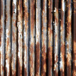 Foto de Stock  : Rusted corrugated metal