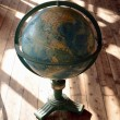 Antique world globe - Stock Photo