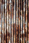 Rusted corrugated metal — 图库照片