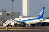 Boeing 787 landed in emergency — 图库照片