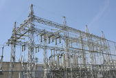 Electrical power substation — Stock Photo