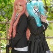 Stock Photo: Cosplay young girls