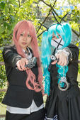 Cosplay young girls — Stock Photo