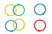 Colorful binding rings — Stock Photo