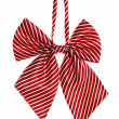 Red bow tie for schoolgirl — Stock Photo #26540697