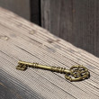 Vintage golden key — Stock Photo