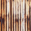 Stock Photo: Rusted corrugated metal wall