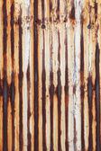 Zrezivělý vlnité kovové stěny — Stock fotografie