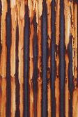 Zardzewiałe blachy falistej — Zdjęcie stockowe