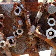 Rusty bolts and nuts — Stock Photo