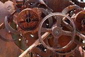 Antigas máquinas enferrujada — Foto Stock