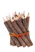 Bundle of tree trunk pencils — Stock Photo