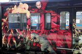 Artistieke trein — Stockfoto