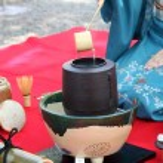 Japanese tea ceremony in garden — Stock Photo
