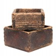 Empty old wooden box — Stock Photo