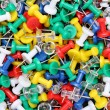 Colorful push pins — Stock fotografie