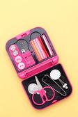 Travel sewing kit — Stock Photo