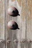 Japanese old gate door — Stock Photo