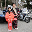 Young japanese garl and Harley Davidson — 图库照片