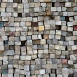 Stack of old lumber surface — Stock Photo
