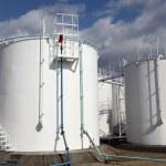White storage tanks — Stock Photo #37737269