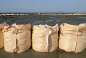 Sandbags for protection — Stock Photo