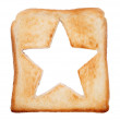 Stock Photo: Toasted bread with star shape
