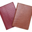 Brown and red leather cover notebook — Stock Photo #39130019