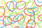 Colorful rubber bands — Stockfoto
