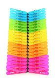 Colorful plastic clothespin — Stock Photo