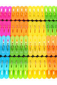 Colorful plastic clothespin — 图库照片