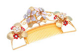 Gold comb — Stock Photo