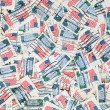 Used US postage stamps — Stock Photo