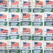 Used US postage stamps — Stock Photo #42492185