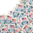 Used US postage stamps — Stock Photo #42492199