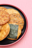 Round rice cracker — Stock Photo