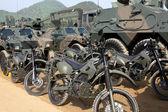 Japanese military motorcycle — Stock Photo