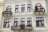 Iron beautiful balconies — Stock Photo