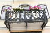Iron beautiful balcony — Stock Photo