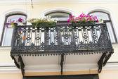 Iron beautiful balcony — Stock Photo