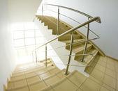 Office staircase (fisheye snapshot) — Stock Photo