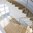 Office staircase (fisheye snapshot) — Stock Photo