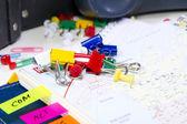 Colored pushpins close up — Stock Photo